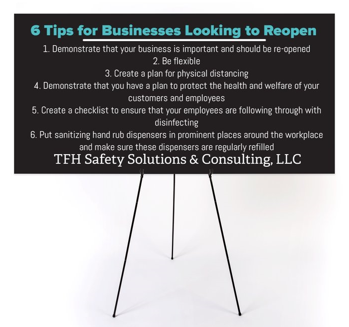 TFH Bulletin for Businesses looking to reopen